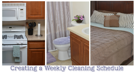 staying organized weekly cleaning schedule