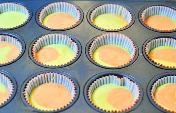 yellow orange cupcakes