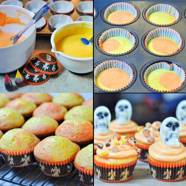 Skeleton Halloween Cupcakes