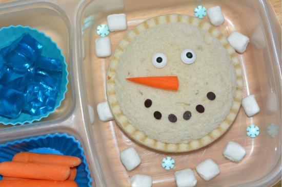 Snowman lunch ideas