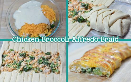 Chicken Broccoli Alfredo Braid Recipe