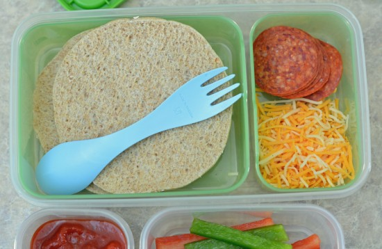 Fun school lunch ideas, make your own pizza