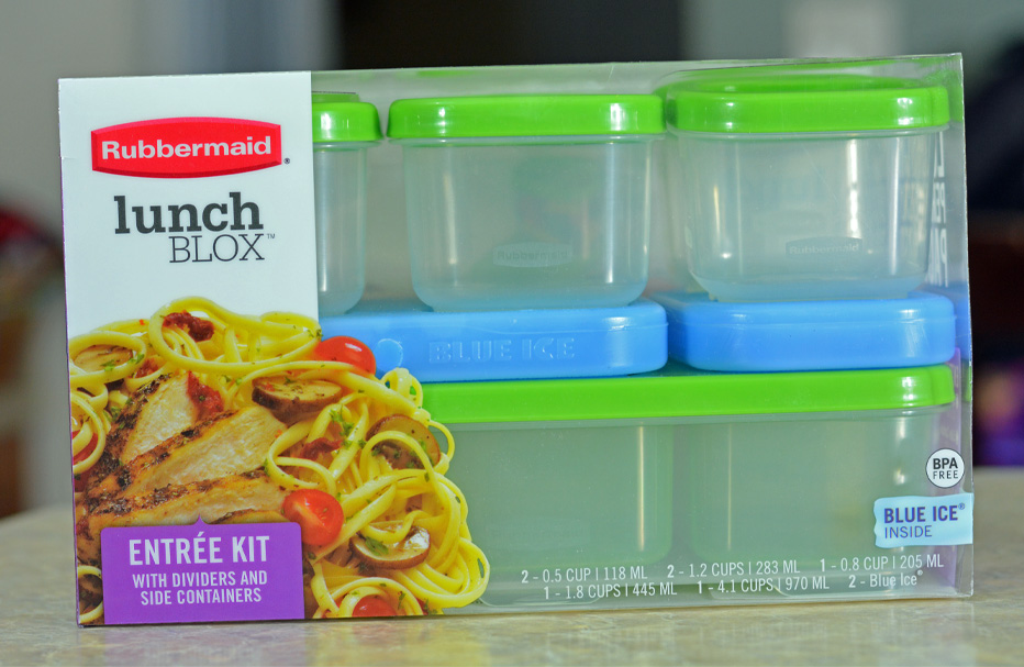 Rubbermaid LunchBlox school lunch