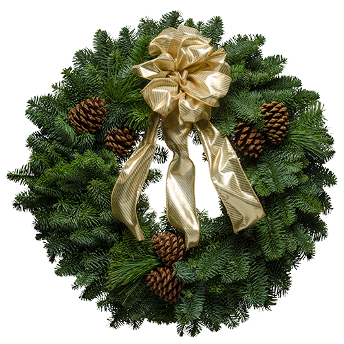 Rustic Gold Wreath Christmas Forest