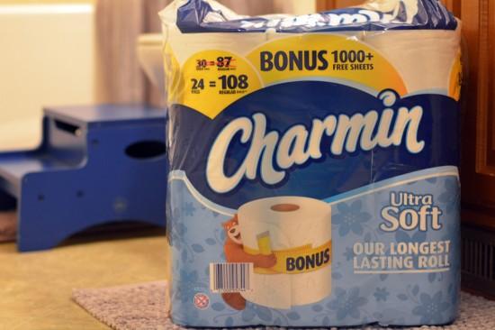 charmin ultra soft with bonus 1000 sheets