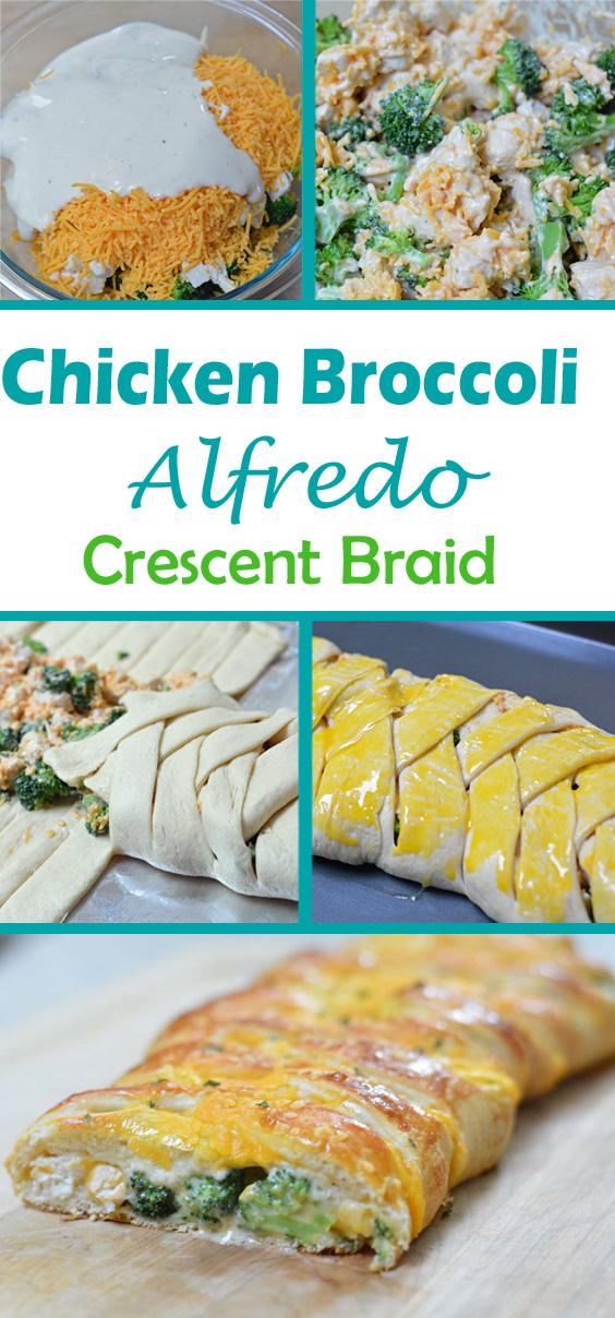 chicken broccoli alfredo crescent braid recipe
