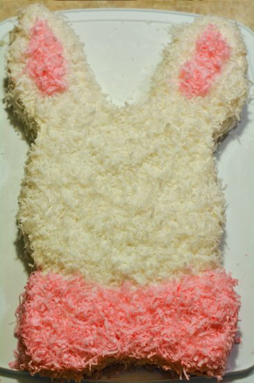 Easter easter bunny cake with two round cakes