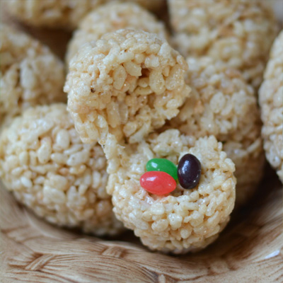 Hidden Surprise Rice Krispies Eggs