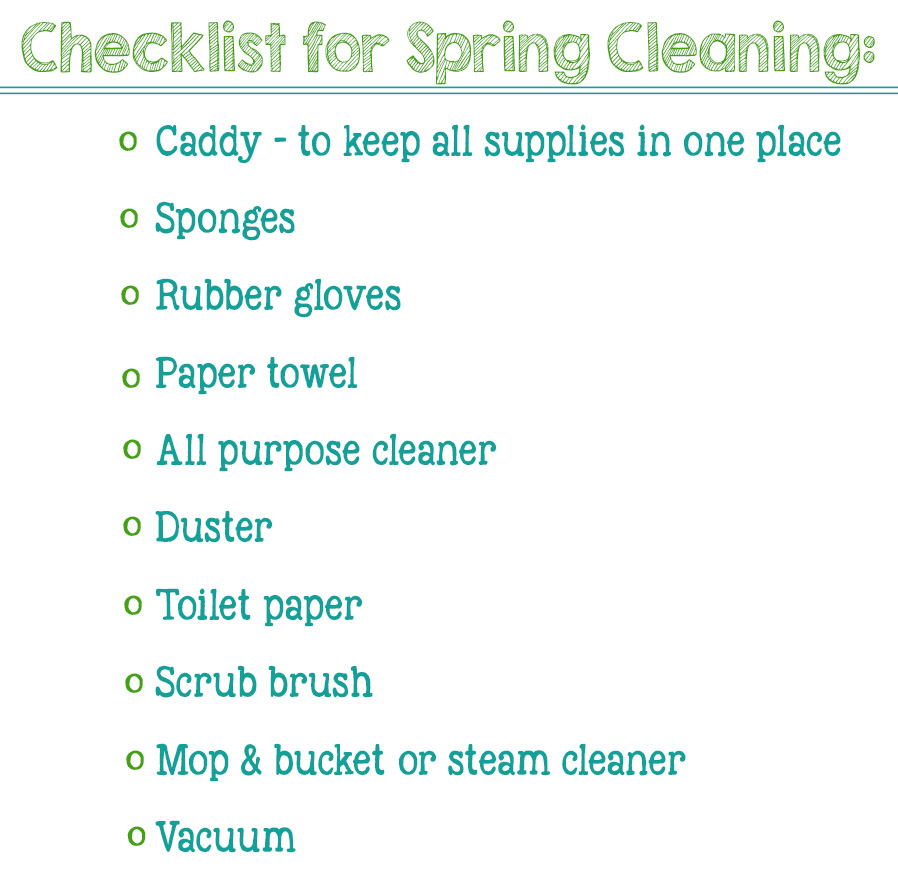 printable checklist for spring cleaning