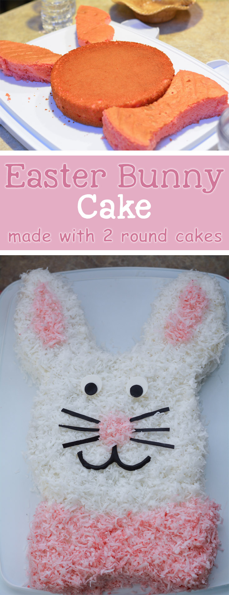 Easy Easter Bunny Cake - Mommy's Fabulous Finds