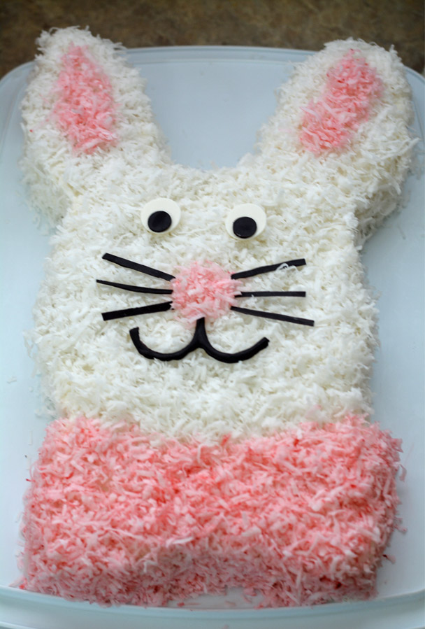 Easy Easter Bunny Cake Made With 2 Round Pans Mommy S Fabulous Finds