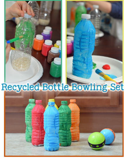 Recycled Bottle Bowling Set