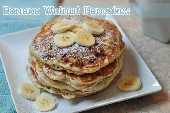banana walnut pancakes recipe