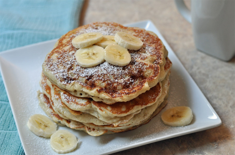 Banana Nut Pancakes *~