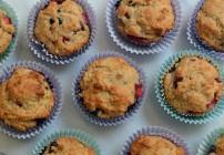 Banana Berry Oatmeal Muffins