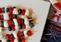 Patriotic Skewers for Fourth of July