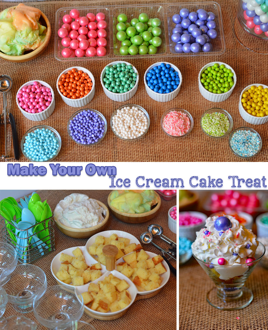make your own ice cream cake treat