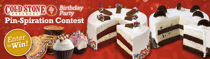 Cold Stone Creamery Birthday Party Pin-spiration Contest