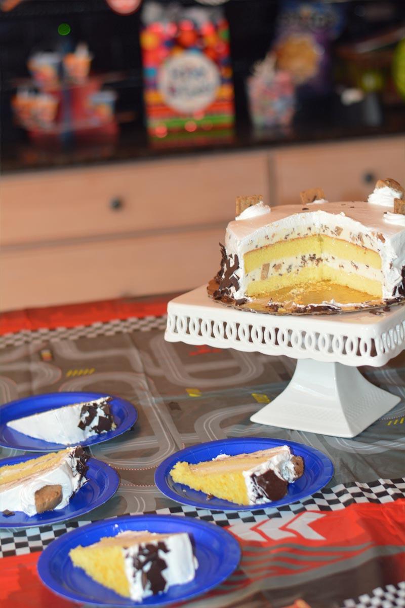 Cookie Dough Delirium Ice Cream Cake