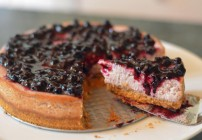 Greek Yogurt Cheesecake with Blueberry Topping