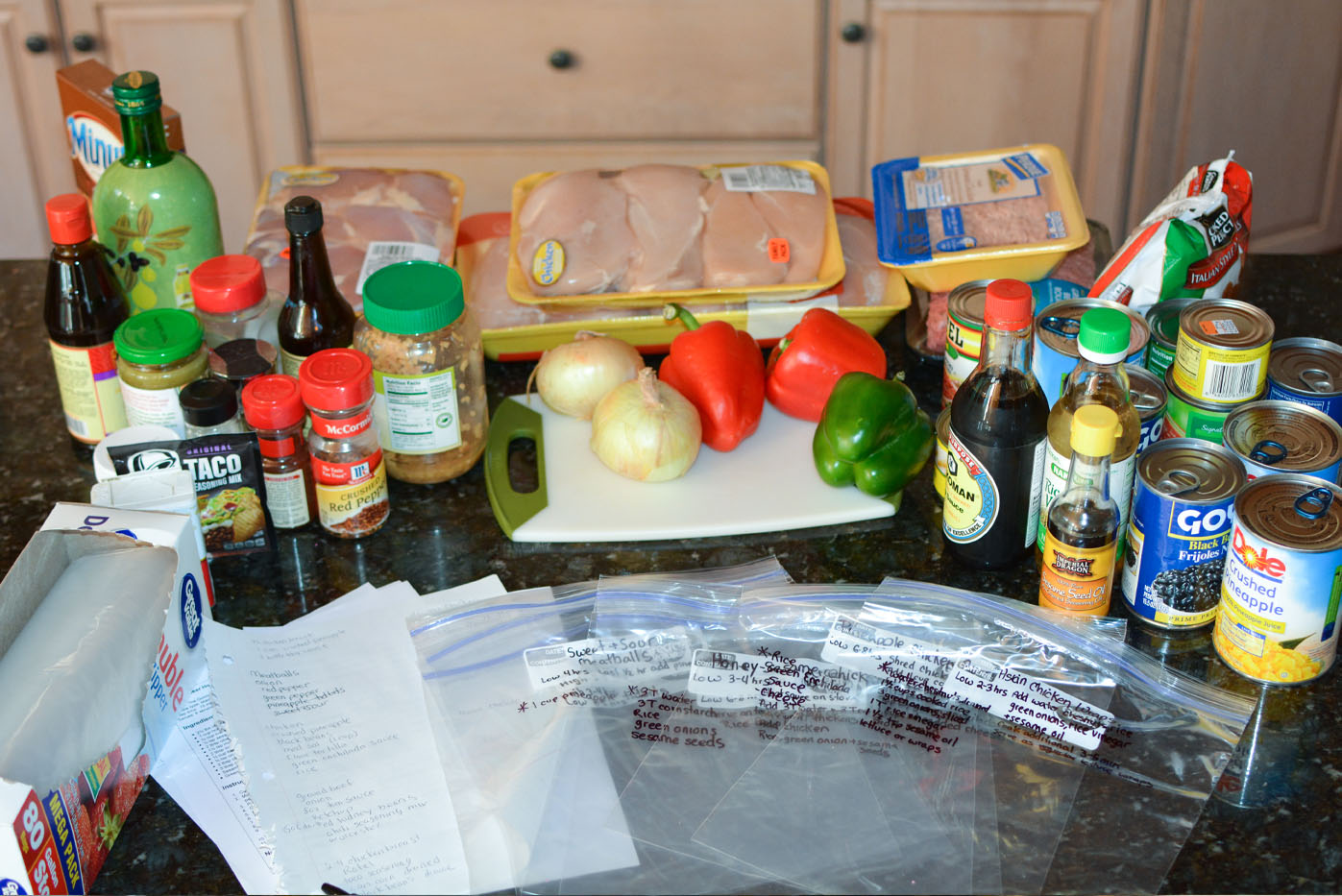 how to prep easy crockpot freezer meals