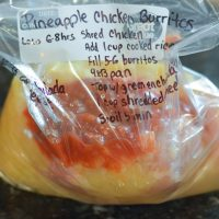 crockpot pineapple chicken burritos