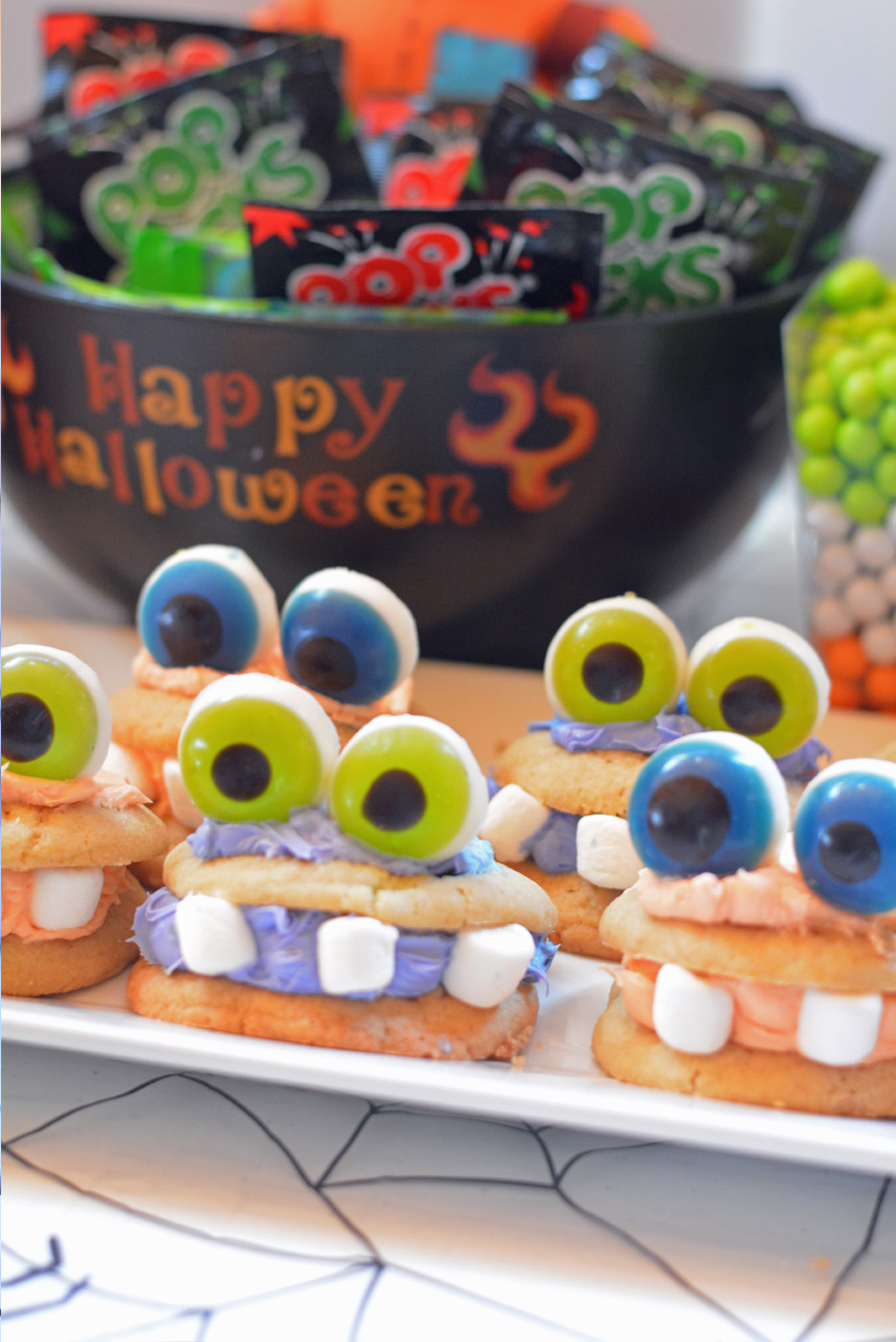 spooky monster cookies