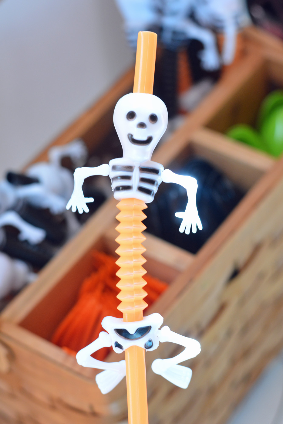 halloween skull straws