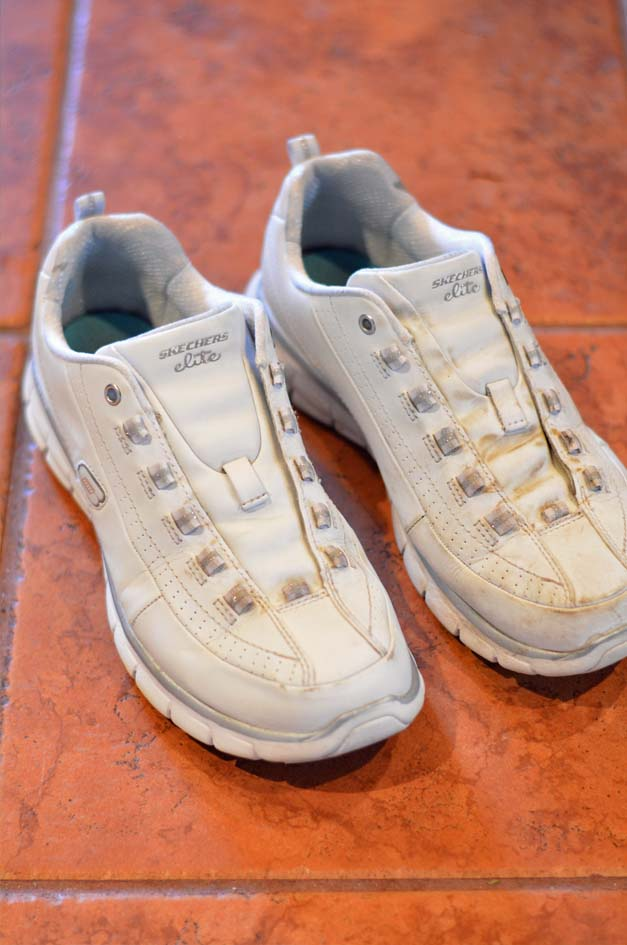 how to get white shoes white again