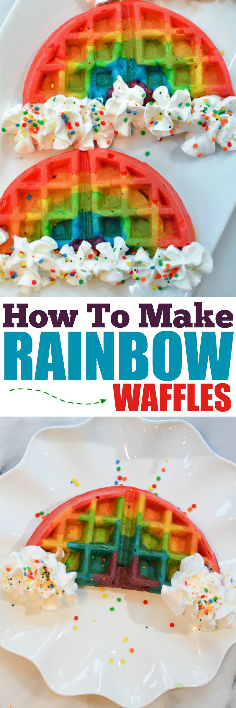 how to make rainbow waffles