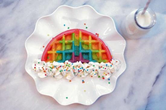 rainbow waffle