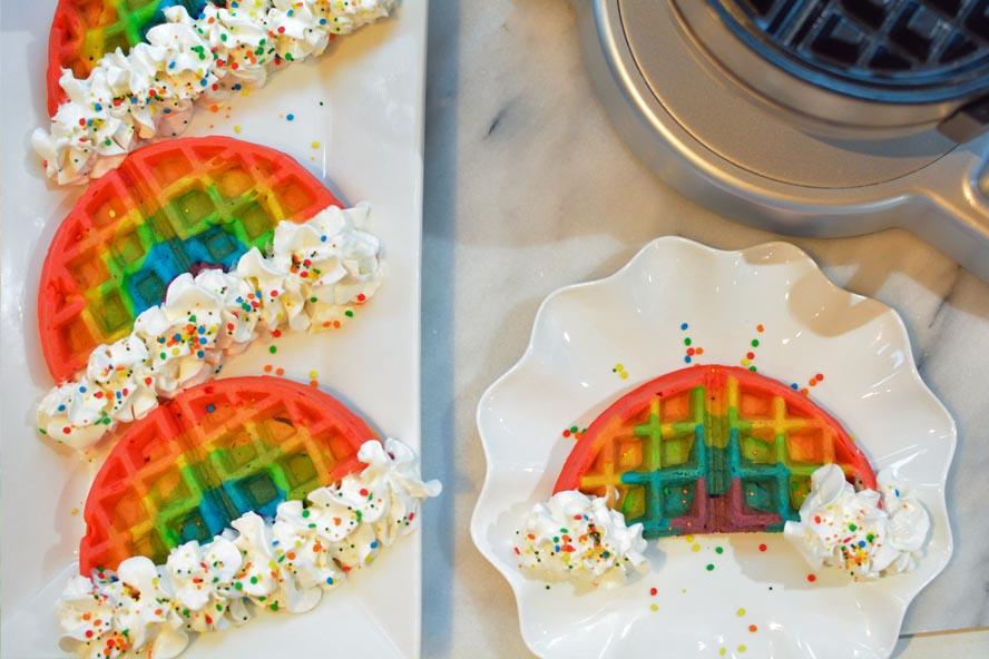 Rainbow Party Ideas Rainbow Waffles