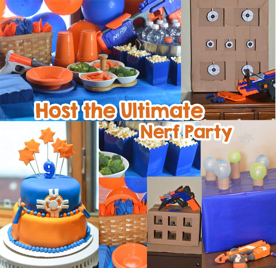 Miraculous Nerf Party Ideas Host The Ultimate Nerf Party Mommys Fabulous Personalised Birthday Cards Veneteletsinfo