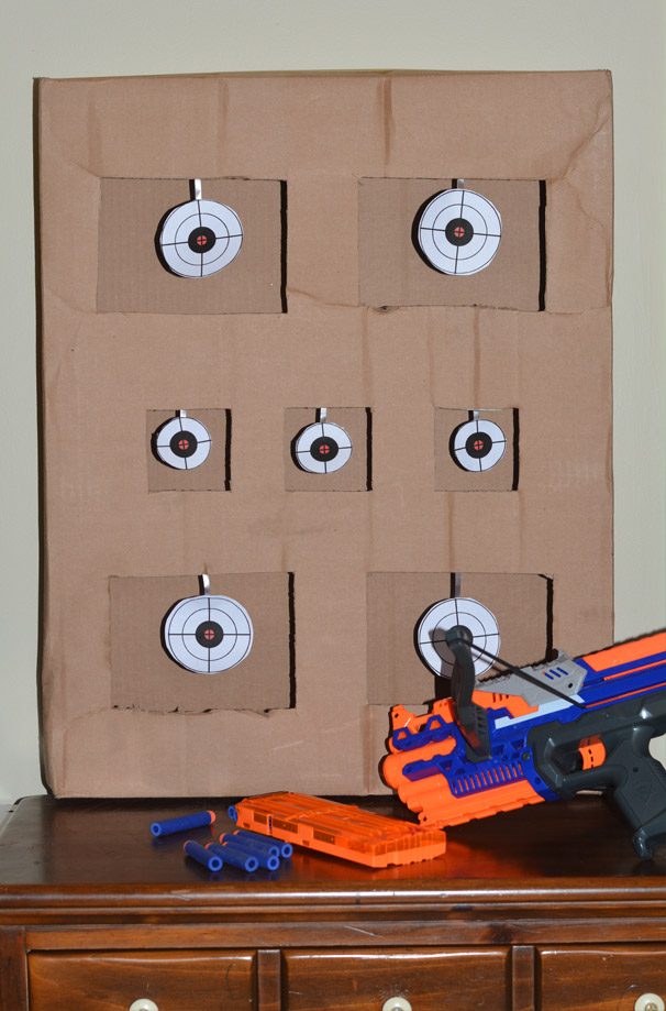 You'll be on target for hosting the ultimate Nerf birthday party with these fun Nerf party ideas. Find ideas for DIY Nerf games, a cake, decorations, and a snack table.