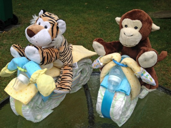 Motorcycle Diaper Cake Directions