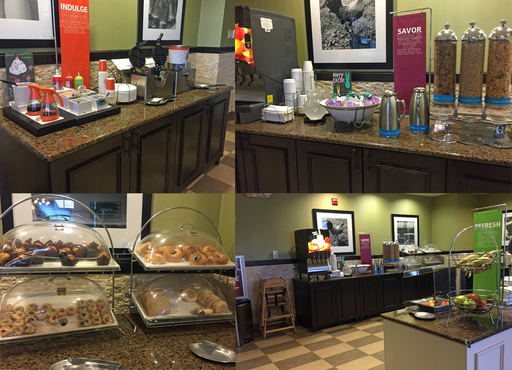 Hampton Inn Exeter Breakfast Buffet