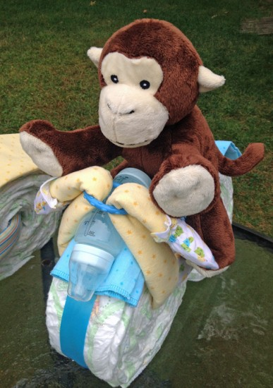 how to make motorcycle diaper cake