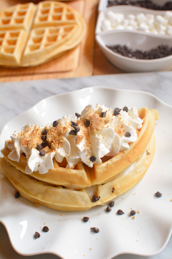 how to make s'mores waffles