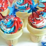 Cupcake in a cone