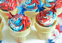 Red, White, & Blue Cupcake Cones
