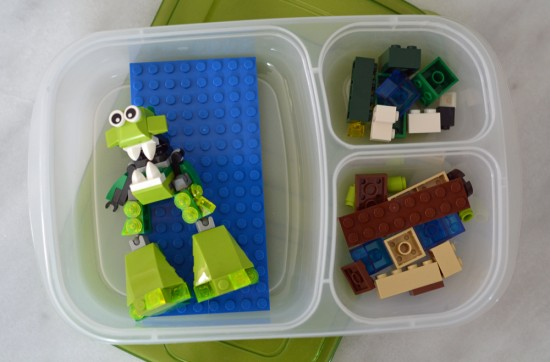 Road Trip Hacks to Entertain Kids - Lego box