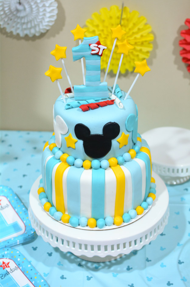Mickey 1st Birthday Cake