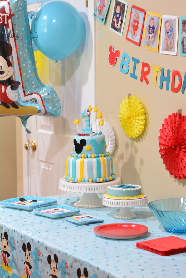 Fabulous Mickeys Fun To Be One Birthday Party Ideas Mommys Fabulous Finds Personalised Birthday Cards Bromeletsinfo