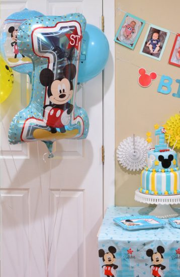 Mickey 1st birthday balloon
