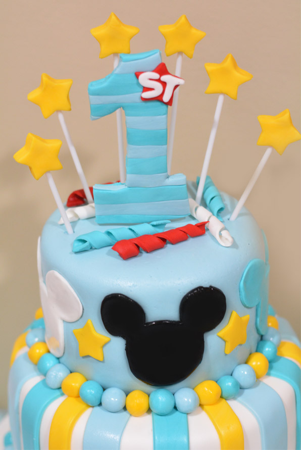 Mickey Mouse 1st Birtday Cake