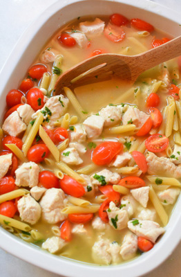 tomato basil pasta with chicken
