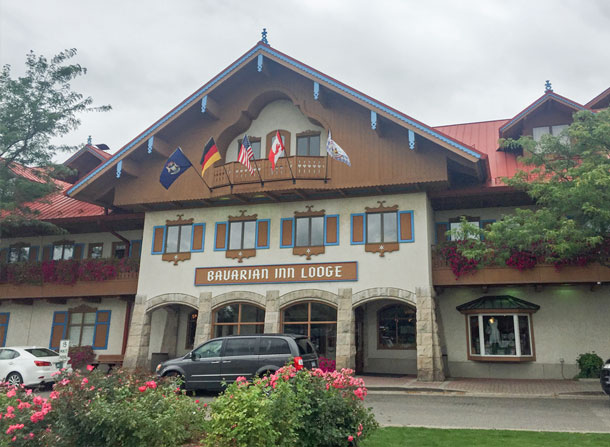 front of bavarian inn lodge