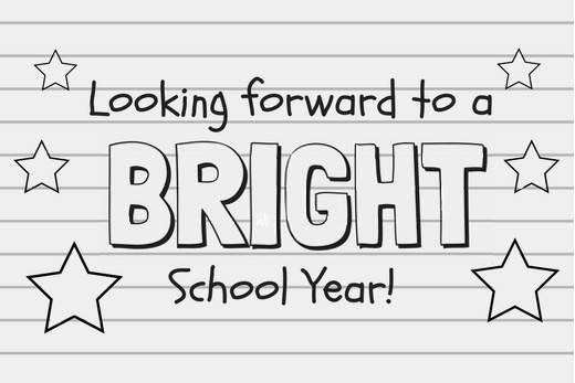 looking forward to a bright school year printable