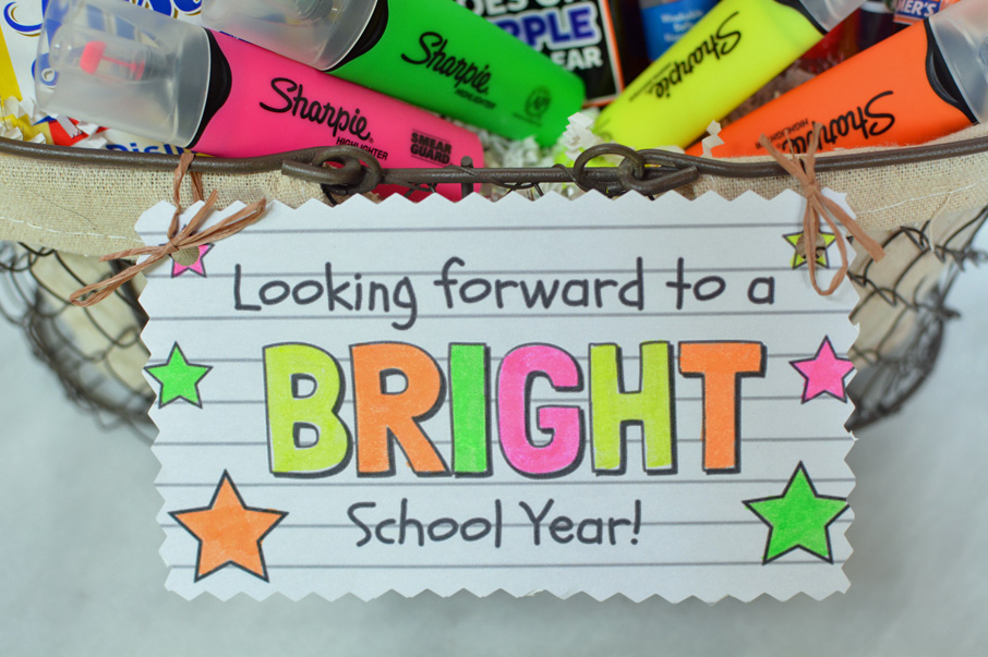 looking forward to a bright school year teacher gift