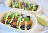 Beer Battered Fish Tacos With Creamy Avocado Lime Sauce